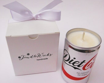 VANILLA Mini Can Diet Cola Novelty Soy Wax Candle