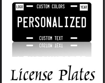 Personalized License Plates