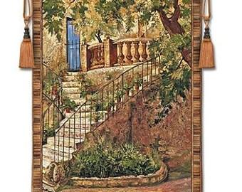 Tuscan Villa I Large Wall Hanging Fine Art Tapestry
