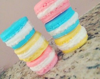 Set of 3 Pastel French Macaron Soaps - Macaron Soap - Homemade Soap - Gifts & Favors