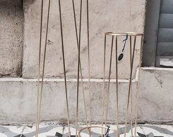 Brass Maki Hairpin Leg Planter