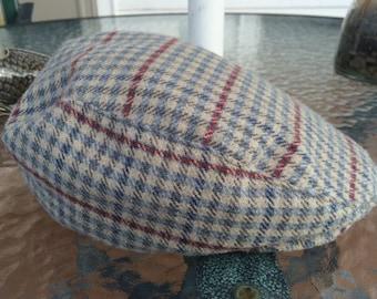 Country Gentleman Trav'ler Plaid Cabbie Newsboy Hat Vintage