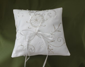 Custom Ring Bearer Pillow made from your upcycled wedding dress - great keepsake!