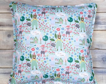 Forest Friends Pillow with Cotton Cover 40x40 cm