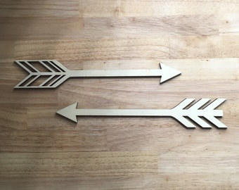 Wooden arrows wall decor, wall decor, nusery decor, childrens room, adventure decor, outdoor decor