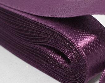 10 meters (10.90 yrds) Dark Purple Satin Ribbon - Double Sided Satin Ribbon, Silky Ribbon - Satin Ribbons