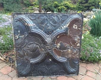 Vintage Tin Ceiling Tile Panel