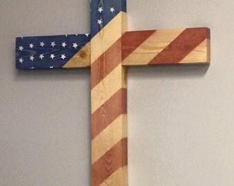 God Bless America (American flag cross)