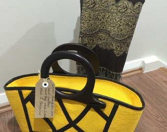 "Top Design Abaca (jute)Handbag-height 10.5""x16""width Made in the Philippines"