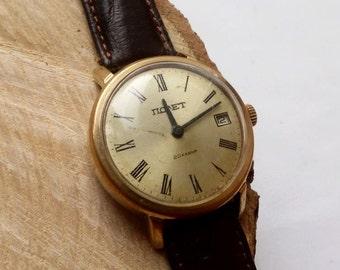 Soveit watch, Poljot 17  jewels  - USSR Men's Watch Poljot - 1980s, mens watch, mens watch, ussr mens watch, mechanical watch