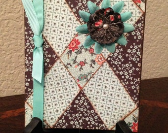 Handcrafted Quilt Card, All Occasion Card, Feminine Card, Blank Card, A2 Card