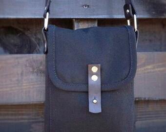 Hand Stitched Tan Leather Saddle Bag. Handmade from Ukraine veg tan Bag. Mini saddle bag, shoulder bag, handbag. UA