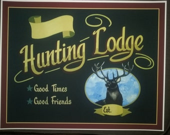 Hunting lodge sign
