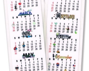 2017 Calendar Bookmark Laminated to Last All Year!