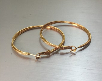 18K Yellow Gold Filled Twisted Hoops