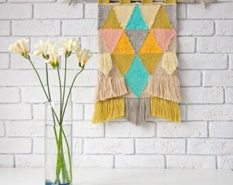 Medium size weaving wallhangings Spring melody #2