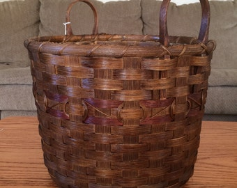 Handwoven Half Bushel To Go Basket