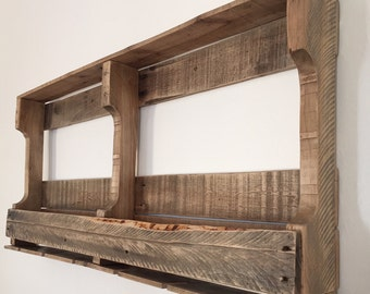 Rustic Wine Rack - Large Reclaimed Wood Wine Rack - Handcrafted