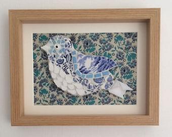 Mosaic Bird - Framed Handmade Art