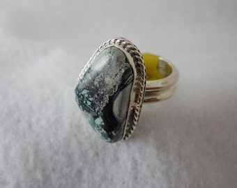 Mystic Sage Turquoise Ring set in Sterling Silver