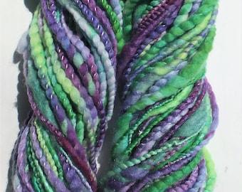 Handspun merino silk art yarn - Lilac Tree