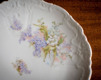 Lilac and Lily of the Valley Serving Plate