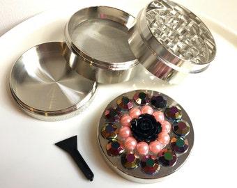 Black Rose/Pink Pearl Herb Grinder