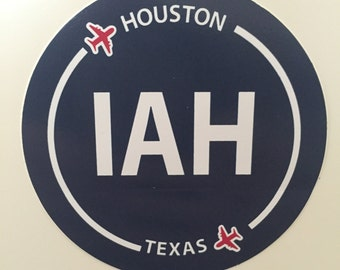 Houston IAH Texas Airport Souvenir Sticker