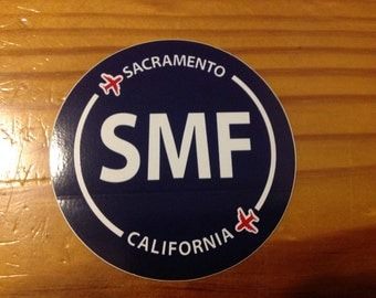 Sacramento SMF California Souvenir Airport Sticker