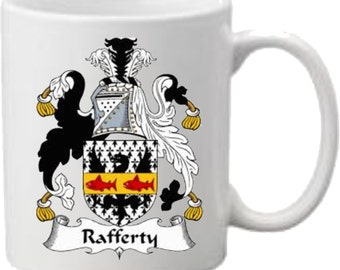 Mug Rafferty Coat of Arms Printed