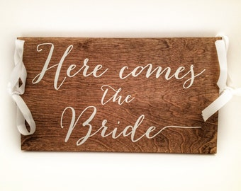 Here Comes the Bride Sign Wedding Decor