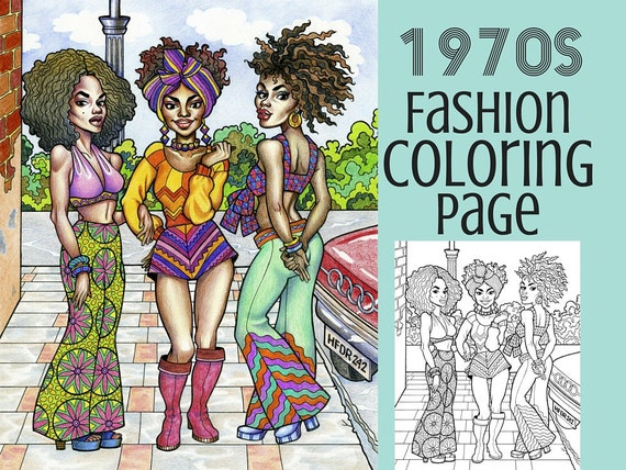 seventies fashion coloring pages - photo#32