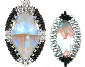Jewellery Craft Making Kit / The Kleshna SWAROVSKI crystal Marquise Twin Bezel Pendant Duo Pack