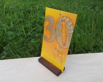 """30 4"""" Wood place card holders, Menu holders, Table number holders, Wedding decor, Cafe, Rustic"""