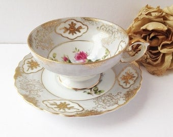 Shafford China Teacup and Saucer / Cup and Saucer / Shafford Teacup / Tea Party / Bone China Teacup / Shafford China