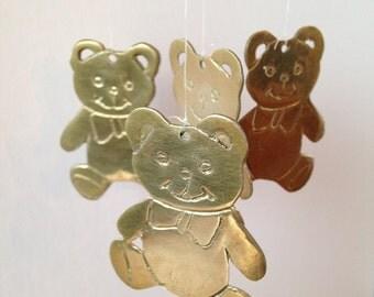 Brass Teddy Bear Chimes / Brass Chimes / Wind Chimes / Teddy Bears / Vintage Teddy Bear / Metal Chimes / Bear Chimes / Teddybear