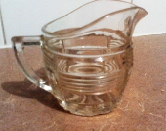 Antique Pressed Glass Creamer