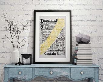 Richmond Tigers Type Print