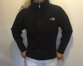 Small Black North Face Zip-up Fleece
