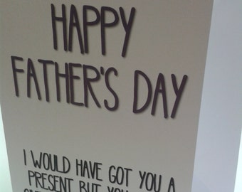 Fathers Day Greeting Card funny cheeky humour