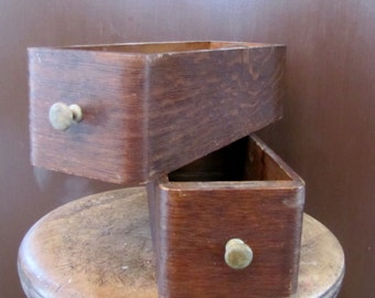 Antique Rustic Wood Drawer, Wood Box, Bin, Display, Shabby Cottage Chic, Industrial, Mid Century Drawer, Recipes drawer