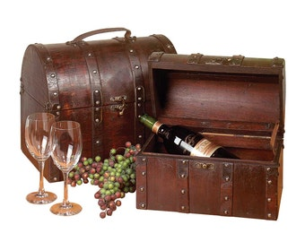 Treasure Chests Decoration Cherry Wood Set Of 2 | Renovators Supply