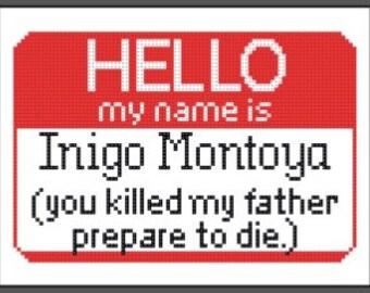 Indigo Montoya Princess Bride cross stitch