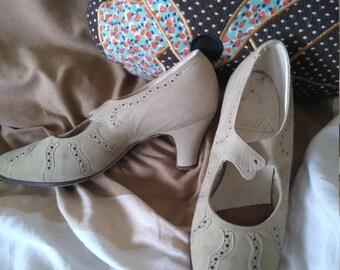 Genuine 1930s Bally of Switzerland shoes 5,5 NOS