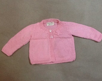 Soft infant girl's sweater in pink size 6-9 months