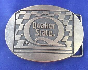 Vintage Quaker State belt buckle