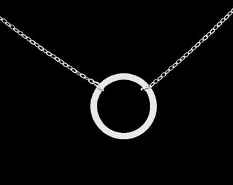 Circle chain, ring chain, Karma chain, stainless steel jewelry, necklace, gift for women and girls, necklace, chain