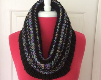 Black/Watercolors Cowl Scarf