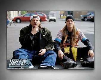 "Jay and Silent Bob Strike Back Poster, ""Fake Hollywood"", Officially Licensed, Kevin Smith, Movie Poster"