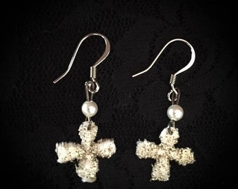 Tiny Sparkle Earrings ~Pearl Beads~